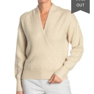 Free press cozy wrap surplice pullover sweater